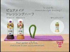Publicité japonaise super drôle FUN DOKIN - l'asperge qui fait du yoga