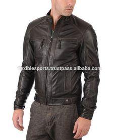 New REAL COW HIDE Leather Jacket BLACK Slim Fit Genuine Biker Motorcycle RACING