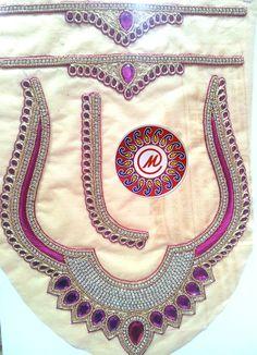 Rani colour blouse back neckline design.