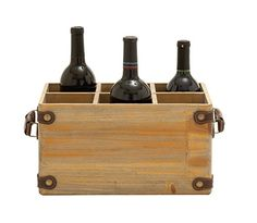 Deco 79 Wood Wine Caddy 13 by 7Inch ** Click image for more details.