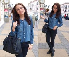 Can never go wrong with a denim top! Goes with everything in my closet!