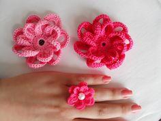 Crochet Flowers for Hair & Ring | Maparim