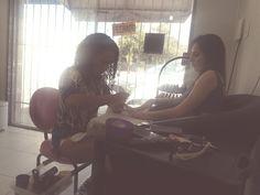 Ângela com a cliente #Luanna.