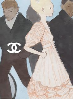 illustrated by Sandra Builes for Chanel#Repin By:Pinterest++ for iPad#