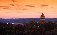 Whenever I miss Clemson, I look to the sky and see my school's beautiful school colors.