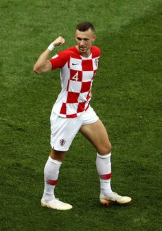 Ivan Perisic of Croatia celebrates after scoring his team s first goal  during the 2018 FIFA World 0e206ef72