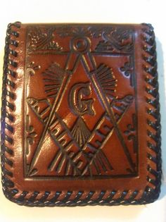 Hand Tooled Masonic Freemason Leather by MyMostFavoriteThings, $73.56