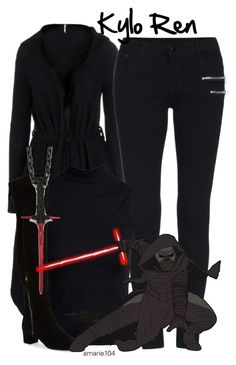 """""""Kylo Ren"""" by amarie104 ❤ liked on Polyvore featuring Free People, Boohoo, Nine West and Han Cholo"""