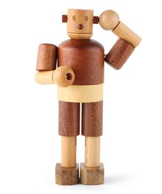 Take a look at this Wooden Robot on zulily today!