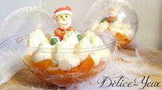 Boules de Noël {Mangue & Chantilly mascarpone vanille}