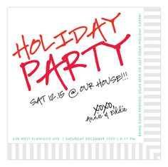 """This Cocktail Napkin Invitation will set the tone for a casual chic holiday party. Cheer Party, Bbq Party, Brunch Party, Party Napkins, Cocktail Napkins, Christmas Cocktails, Christmas Holiday, Christmas Brunch, Xmas"