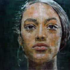 Brazilian artist Harding Meyer creates large-scale oil on canvas portrait paintings using fractured and segmented strokes of paint creating a wonderful visual effect in his work.