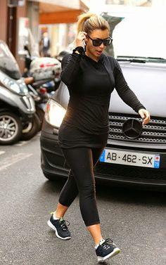 Celeb Diary: Kim Kardashian @ L'Usine gym in Paris