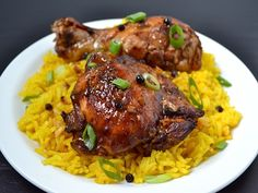 Chicken Adobo-----combination of stove top and broiler to char.  Reduce the sauce before broiling so can brush the chicken with sauce as broils.  Watch it closely and DO flip and baste both sides.  Serve with extra sauce.
