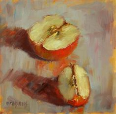 "Daily Paintworks - ""Apple Slice"" - Original Fine Art for Sale - © Phyllis McAdams"