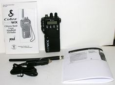 COBRA HH 45WX CITIZENS BAND 2-WAY HANDHELD CB RADIO WITH CAR POWER CORD