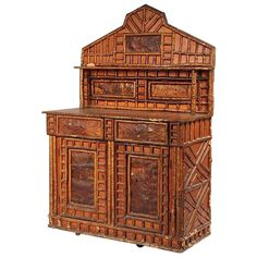 Rustic Adirondack Sideboard   From a unique collection of antique and modern cupboards at https://www.1stdibs.com/furniture/storage-case-pieces/cupboards/