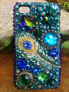 Stunning Unique Peacock iPhone 4/4s case. $82.00, via Etsy.