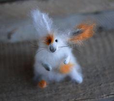 Rabbit Eugene  Mohair Knitted Bunny  Art Sculpture by OlgaMareeva, $68.00