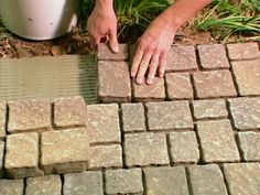 Installing pavers over concrete - would this stand up to the frost vs snow plowing battle? Outdoor Rooms, Outdoor Gardens, Outdoor Living, Outdoor Decor, Garden Yard Ideas, Lawn And Garden, Patio Ideas, Landscaping Ideas, Pavers Over Concrete