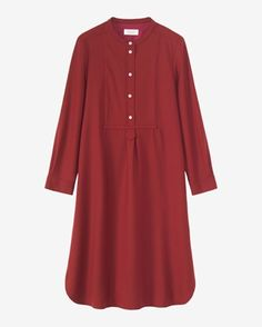 Kpop Fashion Outfits, Fashion Dresses, Simple Dresses, Casual Dresses, Linen Dress Pattern, Toddler Flower Girl Dresses, Long Sleeve Shirt Dress, Dress Long, Hijab Fashionista
