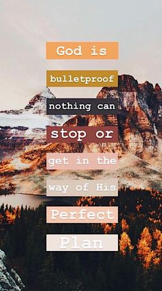 God is bulletproof nothing can stop or get in the way of His perfect plan. Bible Verses Quotes, Jesus Quotes, Bible Scriptures, Faith Quotes, Bibel Journal, Christian Wallpaper, Bible Notes, Quotes About God, God Is Good