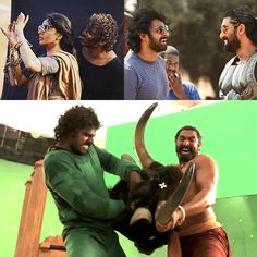 Here's what happened on the sets of Baahubali, while they had been shooting all these 5 years. - These 10 behind-the-scene moments from the sets of Baahubali will make you wish they were making Part 3 right now Prabhas And Anushka, Bahubali 2, Super Movie, New Gossip, Births, Right Now, On Set, Good Movies, Behind The Scenes