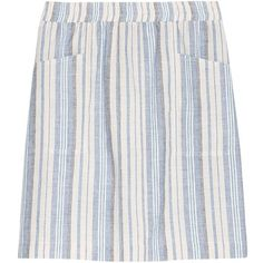 Violeta by Mango Linen Blend Striped Skirt, Light Pastel Blue (1.765 RUB) ❤ liked on Polyvore featuring skirts, mini skirts, pastel skirts, blue striped skirt, womens plus size skirts, stripe skirt and print skirt