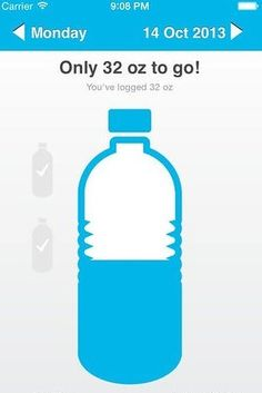 Use an app to track your progress. | 13 Easy Ways To Drink More Water Every Day