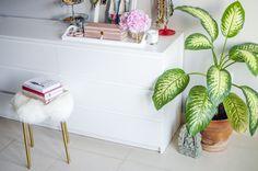 DIY Fell Stuhl aus Ikea Marius Hocker