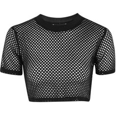 TopShop Petite Airtex Crop Tee ($18) ❤ liked on Polyvore featuring tops, t-shirts, petite tops, cropped tops, topshop, sports t shirts and sport crop top