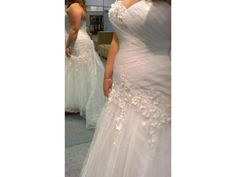 Curvy brides can have custom plus size wedding gowns like this made to order specific to their body shape. We are based near Dallas Texas but sell custom plus size wedding dresses to brides all over the world. We also can make very close #replicaweddingdresses that will look like a haute couture gown but not have the couture price.  Contact us for pricing and more info at www.dariuscordell.com/