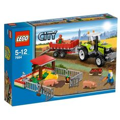 Amazon.com: LEGO City Set #7684 Pig Farm & Tractor: Toys & Games