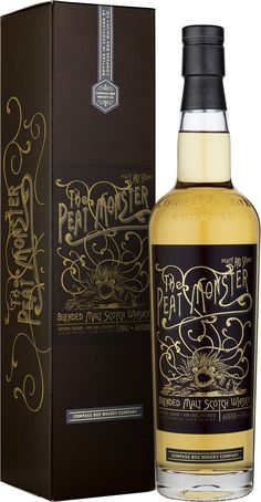 Buy Compass Box the Peat Monster Blended Malt Whisky online and have blended scotch shipped fast! Best price on Compass Box Whiskey Co blended scotch at Ace Spirits. Tequila, Vodka, Speyside Whisky, Malt Whisky, Bourbon, Highland Whisky, Whisky Shop, Alcohol Bottles, Beer Packaging