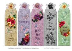 5 Floral Bookmarks