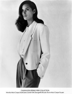 Christy Turlington, 1989 Calvin Klein, Spring 1989 Collection Photographed by Bruce Weber