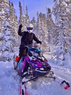 oooh that sled! :D Skidoo - snowmachine - sno-go Winter Fun, Winter Sports, Snowmobile Clothing, Snow Toys, Ski Doo, Harley Gear, Snow Machine, Dirtbikes, Street Bikes