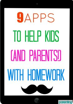 *Apps to remember* Technology that can help kids and parents with homework? This makes life a whole lot easier! Parenting Plan, Parenting Books, Kids And Parenting, Teacher Helper, Kids Behavior, Teaching Kids, Homework, Help Kids, Learning