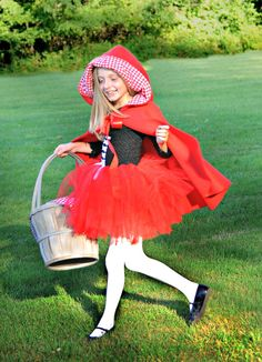 Little Red Riding Hood Costume With Fleece Cape on Etsy, $45.00