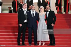 Jean-Francois Richet Mel Gibson,Diego Luna and Erin Moriarty attend the screening of 'Blood Father' at the annual 69th Cannes Film Festival at Palais des Festivals on May 21, 2016 in Cannes, France.