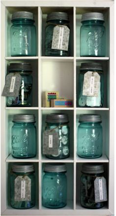 I think this would be neat in a bathroom.  Qtips, cotton balls, band aids-storage