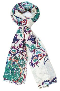 Before you juggle your warm weather wardrobe try diversifying your present pieces with summer scarves. Their accessorizing potential is boundless.  Size: 39'' x 68''  Antoinette Green Scarf by Violet Del Mar. Accessories - Scarves & Wraps San Diego California