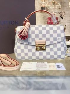 Louis Vuitton Pochette Croisette Damier Azur Bag { 2016 Collection}