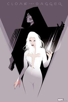 Cloak & Dagger silkscreen poster for mondo gallery. Official Marvel show