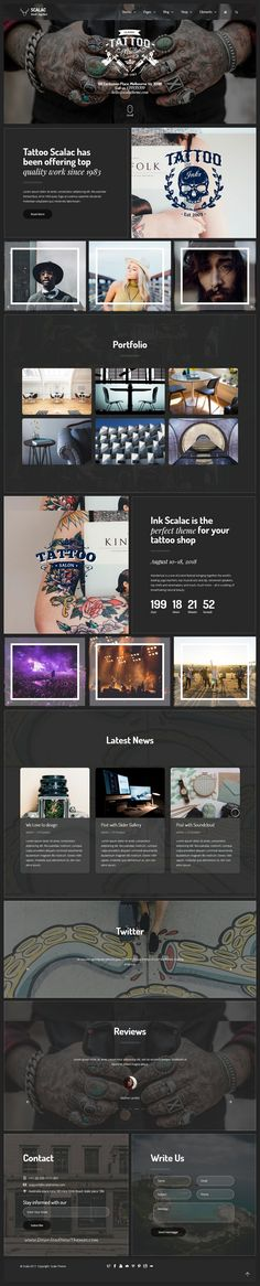 Scala is clean and modern design responsive multipurpose #drupal theme for stunning #tattoo #studio website with 18+ niche homepage layouts to live preview & download click on Visit