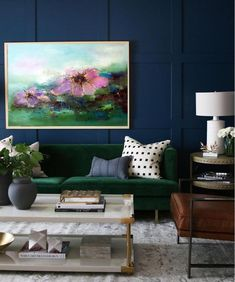 Home Decor Techniques And Strategies For Contemporary Interior Design living room Navy Living Rooms, Living Room Paint, Formal Living Rooms, Living Room Interior, Living Room Decor, Modern Living, Small Living, Dark Blue Living Room, Dining Room
