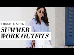 Throwing together a chic yet fresh work outfit for a hot summer day can be a challenge. Join the cool club with these breezy & stylish summer work outfits!