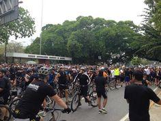 Ciclistas se suman a la protesta en contra de la violencia y la inseguridad