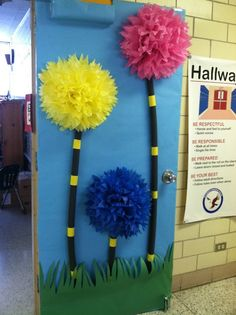 Truffula trees! Fun & colorful. Would be great to start the year with a Dr. Seuss theme!