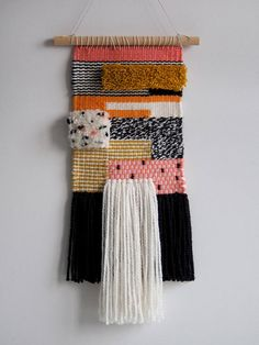 Woven wall hanging Woven tapestry Fiber art Wall Rug
